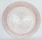 Hocking Depression Pink MISS AMERICA 10 1/4 Inch DINNER PLATE
