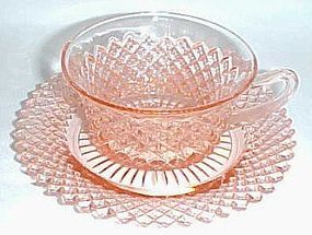 Hocking Depression Glass Pink MISS AMERICA CUP and SAUCER