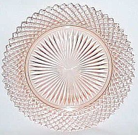 Hocking Depression Pink MISS AMERICA 8 1/2 Inch SALAD PLATE