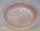 Hocking Depression Glass Pink MISS AMERICA 12 Inch OVAL PLATTER