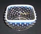 Fenton French Opalescent HOBNAIL 3 3/4 Inch SQUARE FRUIT BOWL