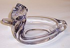Duncan and Miller Elegant Glass Crystal DUCK ASH TRAY