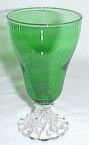 Anchor Hocking Fire King Forest Green BURPLE 5 Inch JUICE TUMBLER