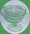Jeannette Green DORIC 3 1/2 Inch High FOOTED SHERBET DISH