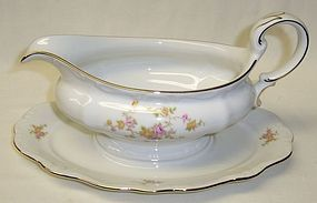 JoHann Haviland MICHELE GRAVY BOAT with Attached Under Plate