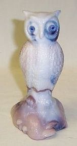 Westmoreland Glass PURPLE SLAG Glass POUND OWL Paper Weight