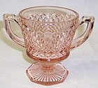 Westmoreland Pink ENGLISH HOBNAIL Footed SUGAR BOWL