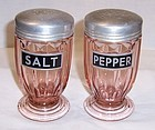 Jeannette Pink JENNYWARE SALT and PEPPER Shakers, Pair