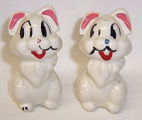 American Bisque Walt Disney Pottery THUMPER SALT and PEPPER