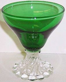 Anchor Hocking Fire King Forest Green BURPLE 3 1/2 Inch COCKTAIL Glass