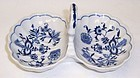 Blue Danube Japan China 7 1/4 Inch Two Part HANDLED RELISH