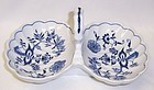 Blue Danube Japan China 9 7/8 Inch Two Part HANDLED RELISH