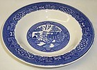 Homer Laughlin China BLUE WILLOW 8 1/4 Inch Flat SOUP BOWL
