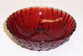 Anchor Hocking Fire King Royal Ruby Red BURPLE 4 1/2 Inch FRUIT BOWL