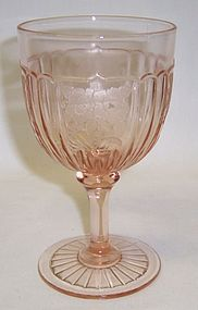 Hocking Pink MAYFAIR OPEN ROSE 5 3/4 Inch WATER GOBLET