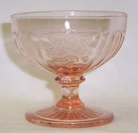 Hocking Pink MAYFAIR OPEN ROSE 3 1/4 Inch FOOTED SHERBET