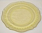 Federal Amber PATRICIAN SPOKE 9 Inch LUNCHEON PLATE