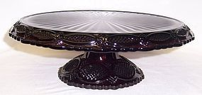 Avon Ruby Red 1876 CAPE COD 11 3/4 Inch FOOTED CAKE STAND