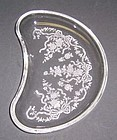 Fostoria Glass Crystal ROMANCE 7 1/2 Inch CRESCENT SALAD PLATE