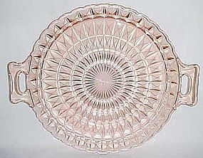 Jeannette Pink WINDSOR DIAMOND 10 1/4 Inch Two HANDLED TRAY