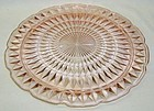 Jeannette Pink WINDSOR DIAMOND 10 3/4 Inch Footed CAKE PLATE