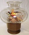 Westmoreland Glass 8 Inch PHEASANT CANDLE LAMP-Wood Base, Orig. Box