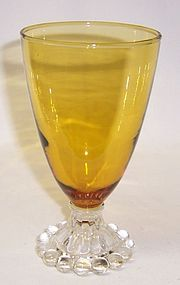 Anchor Hocking Fire King Amber BOOPIE 5 1/2 Inch High WATER TUMBLER