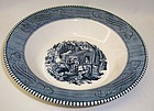 Royal CURRIER and IVES MAPLE SUGARING 9 1/4 Inch SERVING BOWL