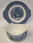 Royal China CURRIER and IVES GRAVY or SAUCE BOAT with Under Plate