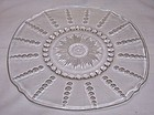 Federal Depression Crystal COLUMBIA 11 Inch CHOP or SANDWICH PLATE