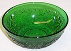 Anchor Hocking Forest Green SANDWICH 4 7/8 Inch BERRY BOWL