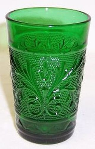 Anchor Hocking Forest Green SANDWICH 3 1/2 Inch High JUICE TUMBLER