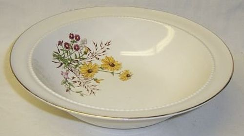 Hall China BROWN EYED SUSAN 9 Inch ROUND VEGETABLE BOWL