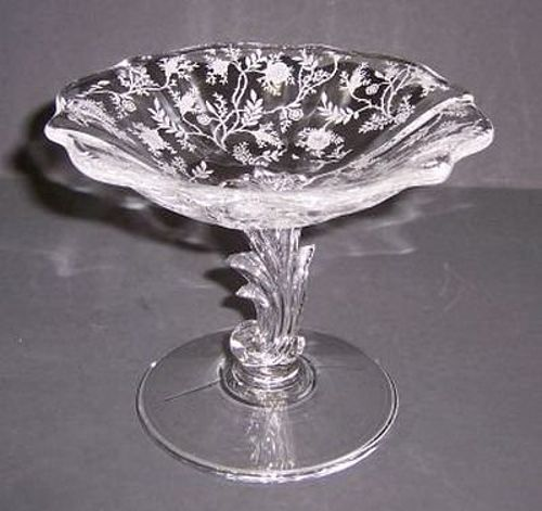 Fostoria Crystal CHINTZ 4 1/2 Inch High MINT COMPORT