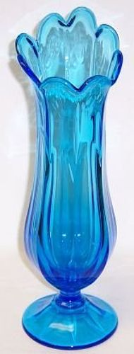 Westmoreland Glass Blue COLONIAL 13 1/2 Inch High FLOWER VASE
