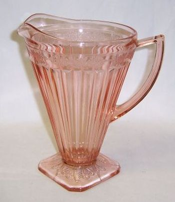 Jeannette Pink ADAM Depression Glass 8 Inch 32 Ounce PITCHER