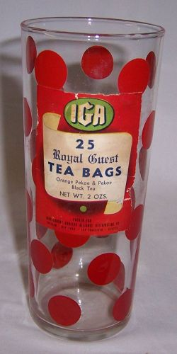 IGA RED DOTS Tea Bag ADVERTISEMENT Tumbler