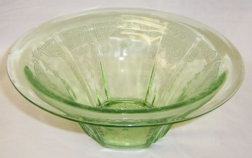 Hocking Green PRINCESS 9 1/2 Inch HAT SHAPED BOWL