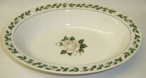 Hall China CAMEO ROSE 10 1/4 Inch OVAL SERVING BOWL