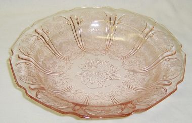 Jeannette Pink CHERRY BLOSSOM 7 3/4 Inch FLAT SOUP BOWL