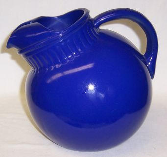 Anchor Hocking Fired On Cobalt RAINBOW TILT BALL JUG or PITCHER