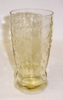 Federal Amber MADRID 5 1/2 Inch 12 Ounce Flat ICE TEA TUMBLER