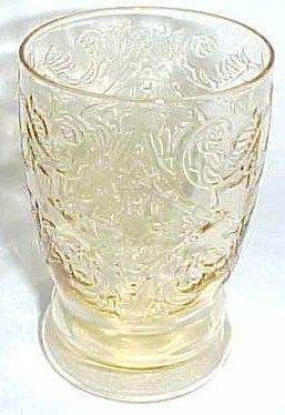 Federal Amber MADRID Vintage 4 1/4 Inch WATER TUMBLER