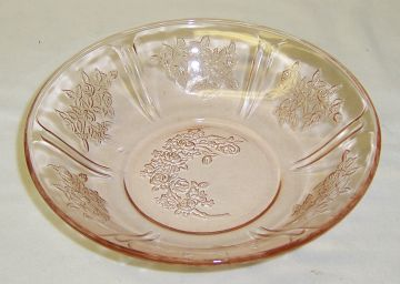 Federal Depression Pink SHARON CABBAGE ROSE 6 Inch CEREAL BOWL