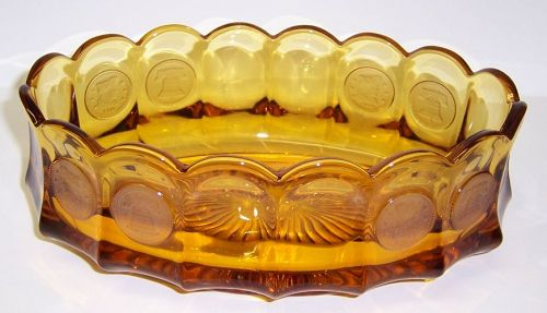 Fostoria Amber COIN 8 3/4 Inch OVAL SERVING BOWL