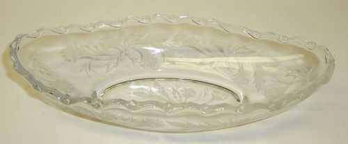 Fostoria Crystal HEATHER 8 1/4 Inch OBLONG RELISH DISH