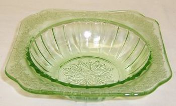 Jeannette Depression Glass Green ADAM 5 3/4 Inch CEREAL BOWL