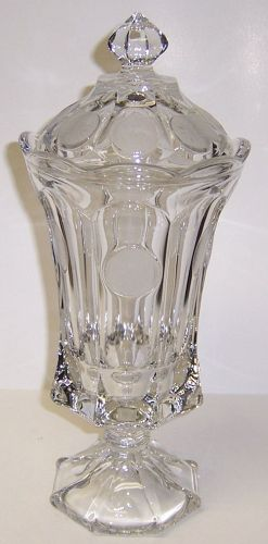Fostoria Crystal COIN 12 3/4 Inch High CANDY or URN with LID