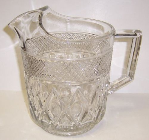 Imperial Glass Crystal CAPE COD 7 1/2 Inch FLAT ICE LIP WATER PITCHER