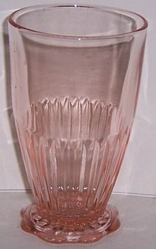 Hocking Pink OLD COLONY aka LACE EDGE 5 Inch 10 1/2 Ounce TUMBLER
